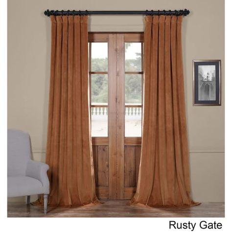Exclusive Fabrics Signature Velvet Blackout Curtain Panel With Regard To Signature Ivory Velvet Blackout Single Curtain Panels (View 16 of 50)