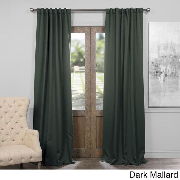 Exclusive Fabrics Thermal Insulated Solid Blackout 96 Inch Pertaining To Solid Insulated Thermal Blackout Curtain Panel Pairs (View 6 of 50)