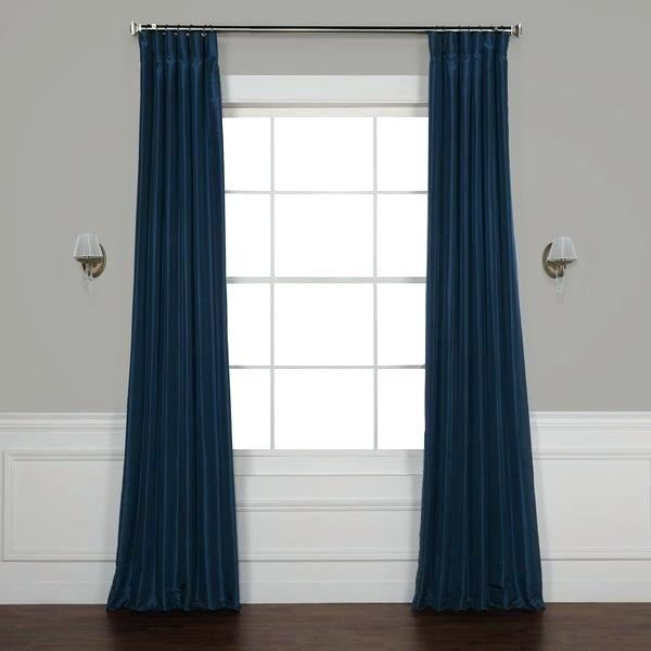 Exclusive Fabrics True Blackout Vintage Textured Faux Silk With Faux Silk Extra Wide Blackout Single Curtain Panels (View 15 of 50)