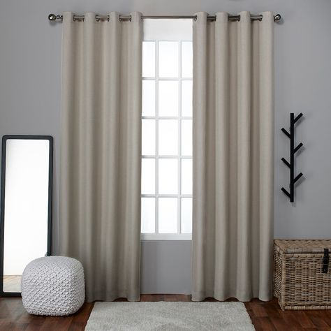 Exclusive Home 2 Pack Loha Linen Grommet Top Window Curtains For Luxury Collection Cranston Sheer Curtain Panel Pairs (View 18 of 42)