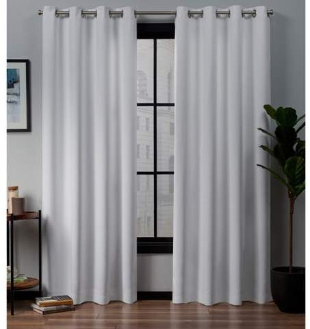 Exclusive Home Academy Total Blackout Grommet Top Curtain Panel Pair With Regard To Tassels Applique Sheer Rod Pocket Top Curtain Panel Pairs (View 11 of 45)
