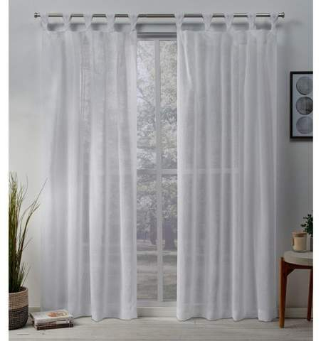 Exclusive Home Belgian Sheer Braided Tab Top Curtain Panel Pair Within Belgian Sheer Window Curtain Panel Pairs With Rod Pocket (View 18 of 46)