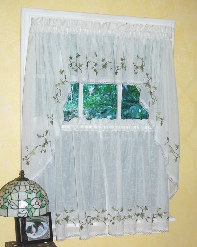 Exclusive Home Belgian Textured Linen Look Jacquard Sheer In Belgian Sheer Window Curtain Panel Pairs With Rod Pocket (View 20 of 46)