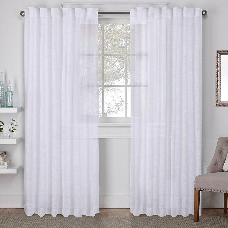 Exclusive Home Bella Window Curtain Panel Pair – Eh8275 01 2 Within Elrene Aurora Kids Room Darkening Layered Sheer Curtains (View 23 of 40)