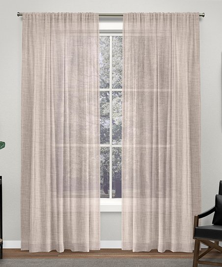 Exclusive Home Blush Belgian Semi Sheer Curtain Panel – Set Within Belgian Sheer Window Curtain Panel Pairs With Rod Pocket (View 23 of 46)