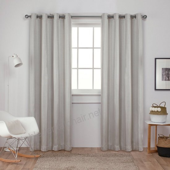 Exclusive Home Carling Basketweave Textured Woven Blackout Regarding Kochi Linen Blend Window Grommet Top Curtain Panel Pairs (#7 of 36)