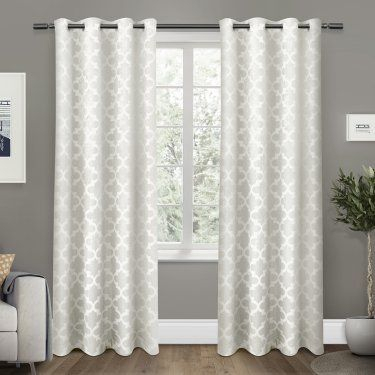 Exclusive Home Cartago Grommet Curtain Panel Pair Black With Regard To Easton Thermal Woven Blackout Grommet Top Curtain Panel Pairs (#21 of 44)