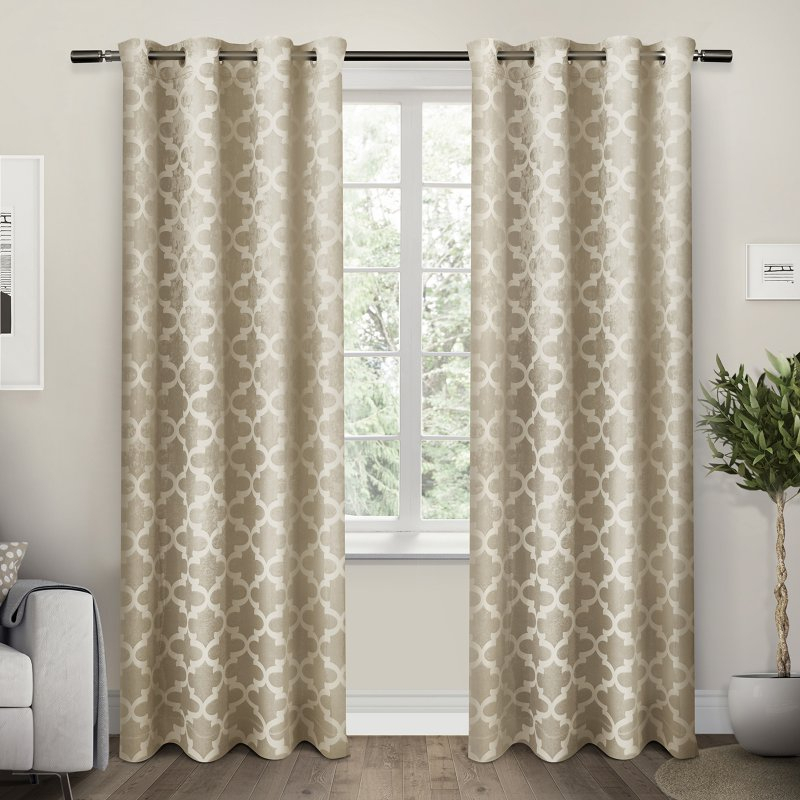 Exclusive Home Cartago Insulated Woven Blackout Grommet Top Window Curtain Panel Pair, Taupe Within Insulated Blackout Grommet Window Curtain Panel Pairs (View 13 of 37)