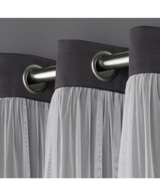Popular Photo of Catarina Layered Curtain Panel Pairs With Grommet Top