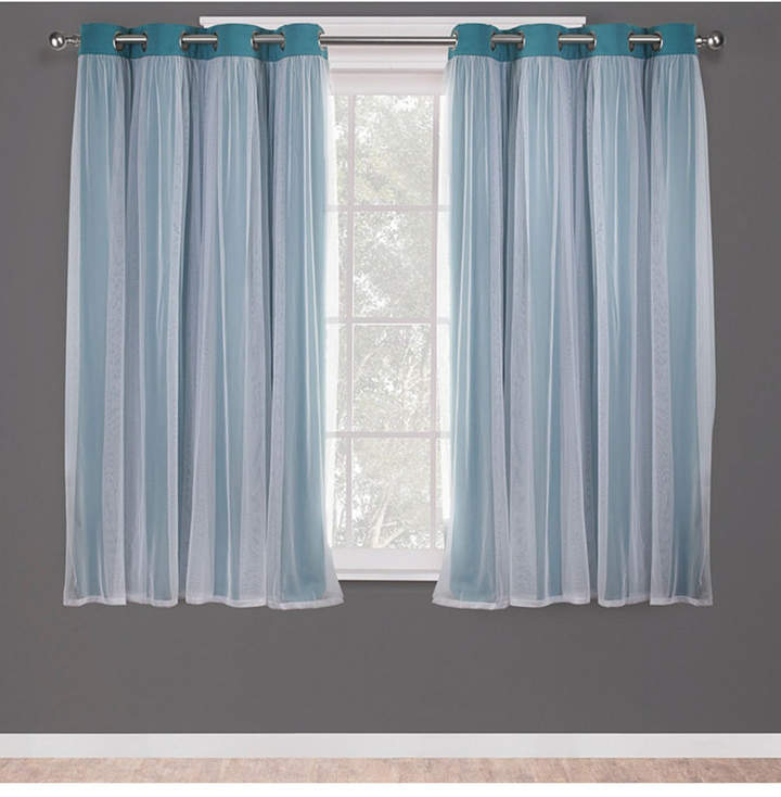 Exclusive Home Catarina Layered Solid Blackout And Sheer Inside Catarina Layered Curtain Panel Pairs With Grommet Top (View 15 of 30)