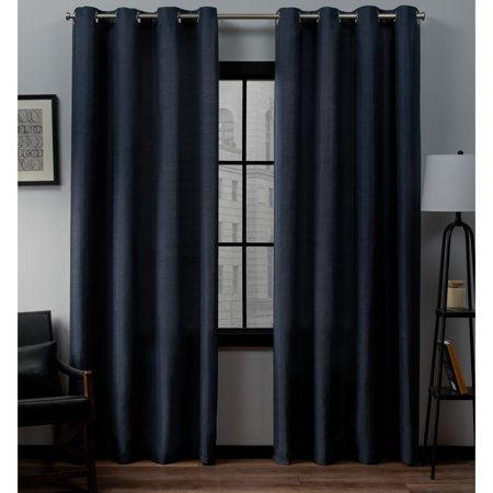 Exclusive Home Curtains 2 Pack Loha Linen Grommet Top For Copper Grove Speedwell Grommet Window Curtain Panels (#10 of 50)
