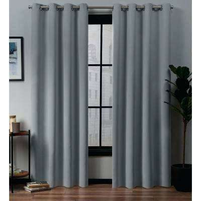 Exclusive Home Curtains Academy Total Blackout Grommet Top Throughout Total Blackout Metallic Print Grommet Top Curtain Panels (View 10 of 50)