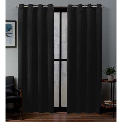Exclusive Home Curtains Academy Total Blackout Grommet Top Throughout Woven Blackout Curtain Panel Pairs With Grommet Top (View 2 of 42)
