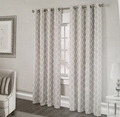 "Exclusive Home Curtains Baroque Textured Linen Look Jacquard Grommet, 54"" X  96"" 642472004904   Ebay Regarding Baroque Linen Grommet Top Curtain Panel Pairs (View 17 of 48)"