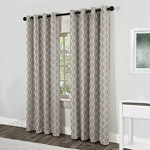 Exclusive Home Curtains Baroque Textured Linen Look Jacquard Intended For Thermal Textured Linen Grommet Top Curtain Panel Pairs (View 16 of 42)