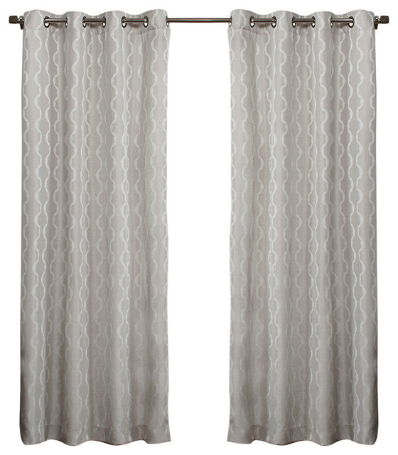 Exclusive Home Curtains Belgian Textured Linen Look Jacquard Intended For Belgian Sheer Window Curtain Panel Pairs With Rod Pocket (View 24 of 46)