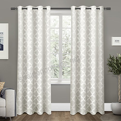 Exclusive Home Curtains Cartago Insulated Woven Blackout With Regard To Superior Leaves Insulated Thermal Blackout Grommet Curtain Panel Pairs (#20 of 50)