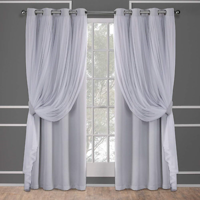 Exclusive Home Curtains Catarina Woven Blackout Grommet Top Within Woven Blackout Curtain Panel Pairs With Grommet Top (#15 of 42)