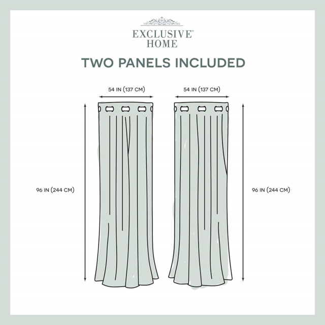 Exclusive Home Curtains Delano Heavyweight Textured Indoor/outdoor Window Panel Within Delano Indoor/outdoor Grommet Top Curtain Panel Pairs (View 13 of 45)