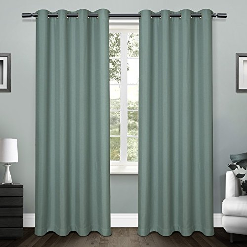 Exclusive Home Curtains Eh8091 08 2 84G Loha Linen Window Curtain Panel  Pair, 54X84, Blue Teal – 2Pc (View 18 of 30)
