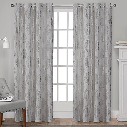 Exclusive Home Curtains Forest Hill Woven Blackout Grommet In Forest Hill Woven Blackout Grommet Top Curtain Panel Pairs (#11 of 45)