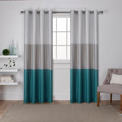 Exclusive Home Curtains Indoor/outdoor Solid Cabana Grommet In Indoor/outdoor Solid Cabana Grommet Top Curtain Panel Pairs (View 24 of 48)