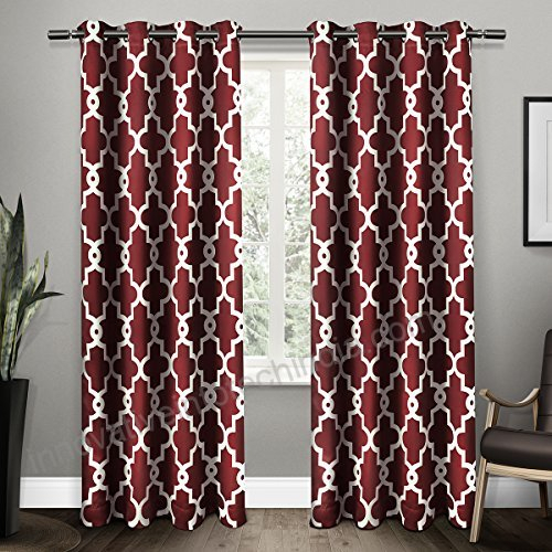 Exclusive Home Curtains Ironwork Sateen Woven Blackout Inside Woven Blackout Curtain Panel Pairs With Grommet Top (#18 of 42)