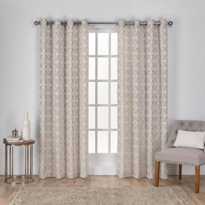 Exclusive Home Curtains Kochi Blush Grommet Top Curtain Pair Regarding Kochi Linen Blend Window Grommet Top Curtain Panel Pairs (View 21 of 36)