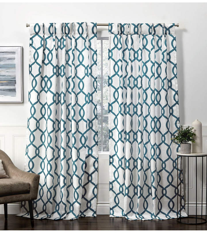 Exclusive Home Curtains Kochi Linen Blend Hidden Tab Top Pertaining To Kochi Linen Blend Window Grommet Top Curtain Panel Pairs (#13 of 36)
