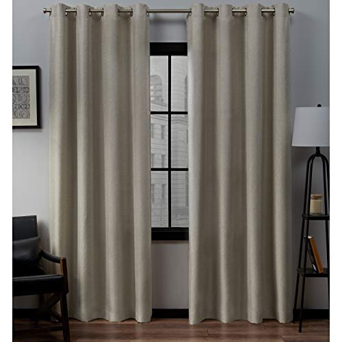 Exclusive Home Curtains Loha Linen Grommet Top Curtain Panel Pair, 52X96, Natural Within Thermal Textured Linen Grommet Top Curtain Panel Pairs (View 18 of 42)