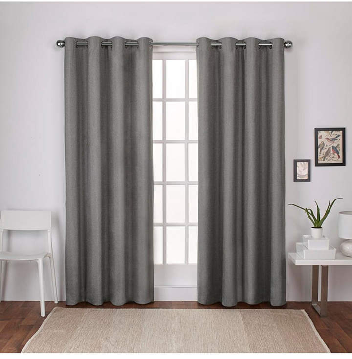 Exclusive Home Curtains London Textured Linen Blackout Grommet Top Curtain  Panel Pair In Baroque Linen Grommet Top Curtain Panel Pairs (View 21 of 48)