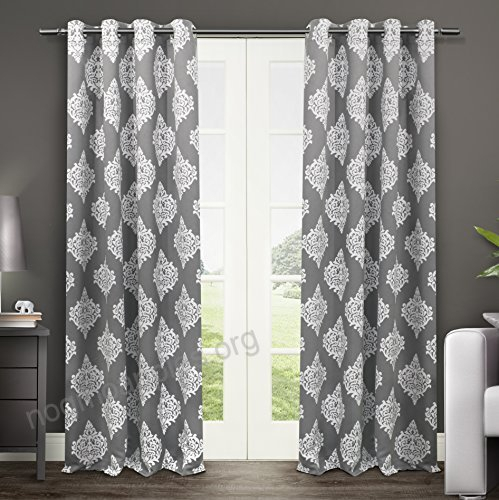 Exclusive Home Curtains Medallion Thermal Blackout Grommet Within Insulated Blackout Grommet Window Curtain Panel Pairs (#17 of 37)