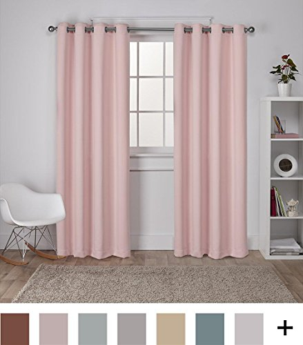 Exclusive Home Curtains Sateen Twill Weave Insulated Intended For Woven Blackout Curtain Panel Pairs With Grommet Top (#19 of 42)