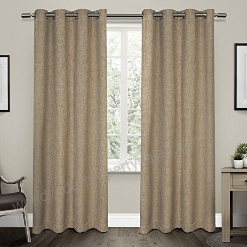 Exclusive Home Curtains Vesta Textured Linen Woven Blackout For Woven Blackout Curtain Panel Pairs With Grommet Top (View 15 of 42)