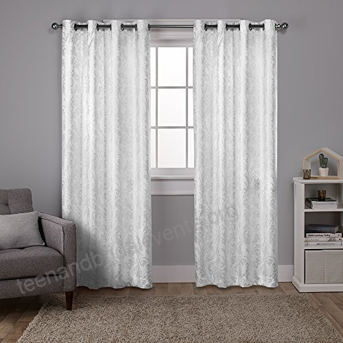 Exclusive Home Curtains Watford Distressed Metallic Print Pertaining To Total Blackout Metallic Print Grommet Top Curtain Panels (View 16 of 50)