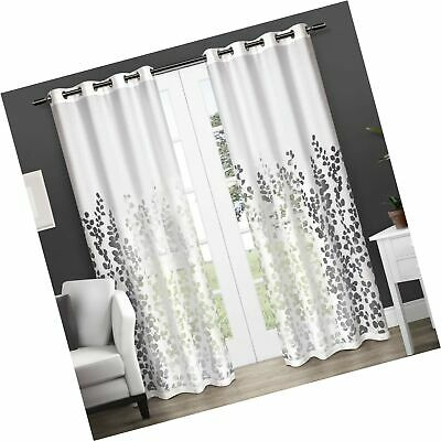 Exclusive Home Curtains Wilshire Burnout Sheer Window Curtain Panel Pair  With 773822223604 | Ebay Throughout Wilshire Burnout Grommet Top Curtain Panel Pairs (#20 of 45)