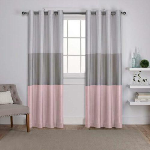 Exclusive Home Curtains Window Curtains | Window Curtains Inside Wilshire Burnout Grommet Top Curtain Panel Pairs (#21 of 45)