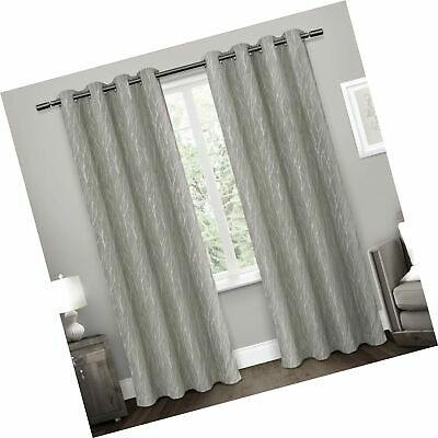 Exclusive Home Curtains Woodland Printed Metallic Branch Throughout Forest Hill Woven Blackout Grommet Top Curtain Panel Pairs (#12 of 45)