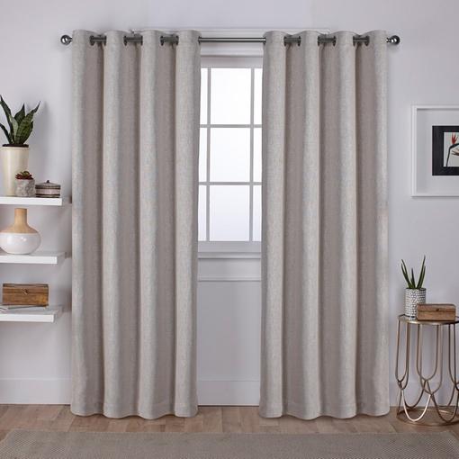 Exclusive Home Eh8010 06 2 96G Vesta Heavyweight Textured Linen Blackout Window Curtain Panel Pair With Grommet Top In Delano Indoor/outdoor Grommet Top Curtain Panel Pairs (View 33 of 45)