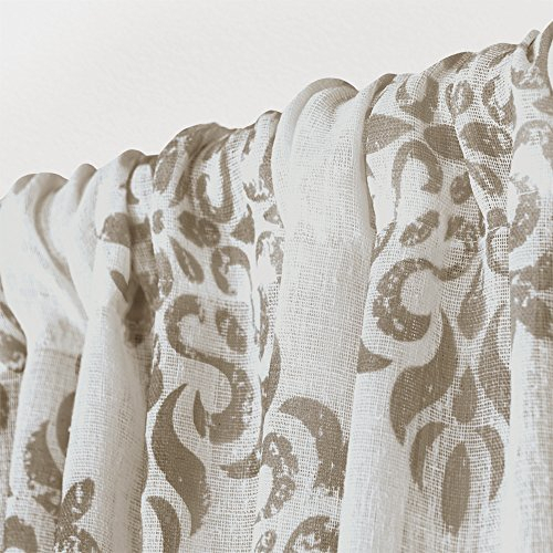 Exclusive Home Eh8183 01 2 108 Curtains Nagano Sheer Rod Pocket Window  Curtain Panel Pair, Taupe, 54X108 With Belgian Sheer Window Curtain Panel Pairs With Rod Pocket (View 27 of 46)