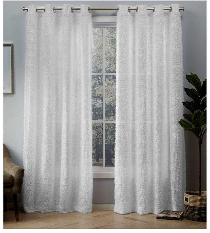 Exclusive Home Eyelash Grommet Top Curtain Panel Pair Pertaining To Penny Sheer Grommet Top Curtain Panel Pairs (#22 of 49)
