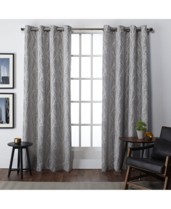 Exclusive Home Finesse Grommet Top Curtain Panel Pair In Regarding Oakdale Textured Linen Sheer Grommet Top Curtain Panel Pairs (#8 of 41)