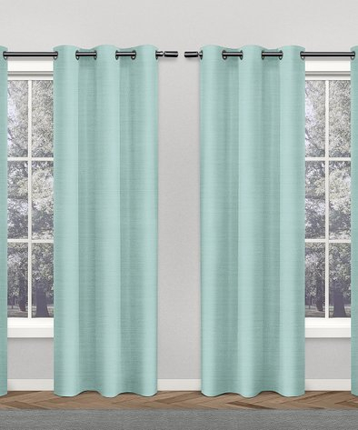 Exclusive Home Foam Sporadic Silk Curtain Panel – Set Of Throughout Overseas Faux Silk Blackout Curtain Panel Pairs (#13 of 41)