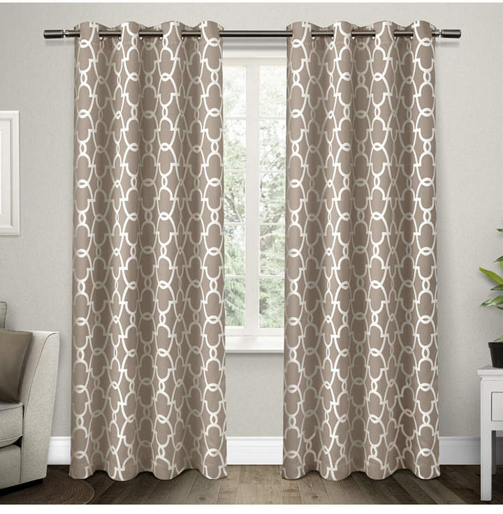 Exclusive Home Gates Sateen Woven Blackout Grommet Top Curtain Panel Pair Pertaining To Delano Indoor/outdoor Grommet Top Curtain Panel Pairs (View 32 of 45)