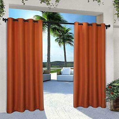 Exclusive Home Indoor/outdoor Solid Cabana Window Curtain Intended For Delano Indoor/outdoor Grommet Top Curtain Panel Pairs (View 35 of 45)