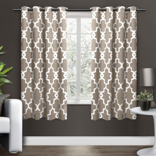 Exclusive Home Ironwork Sateen Woven Blackout Window Curtain For Woven Blackout Curtain Panel Pairs With Grommet Top (View 13 of 42)