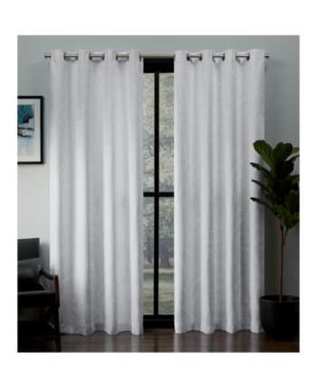 Exclusive Home Kilberry Woven Blackout Grommet Top Curtain With Woven Blackout Curtain Panel Pairs With Grommet Top (#25 of 42)