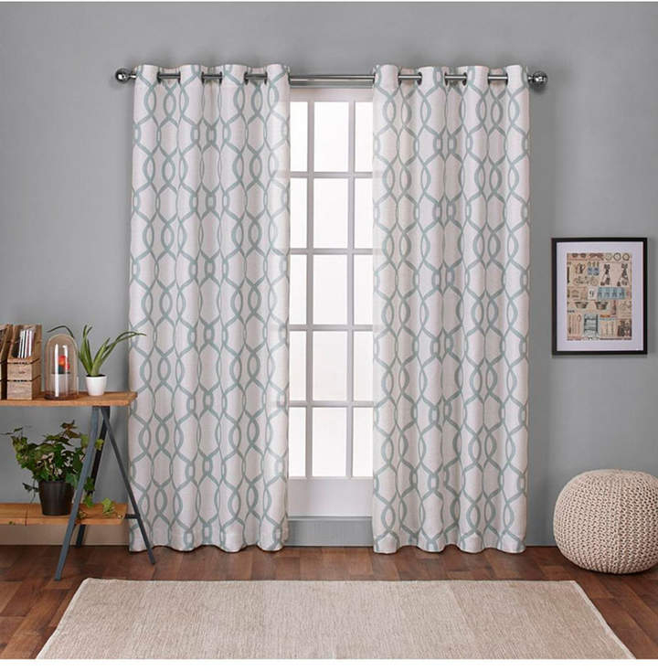Exclusive Home Kochi Linen Blend Grommet Top Curtain Panel Pair Intended For Archaeo Slub Textured Linen Blend Grommet Top Curtains (View 17 of 37)