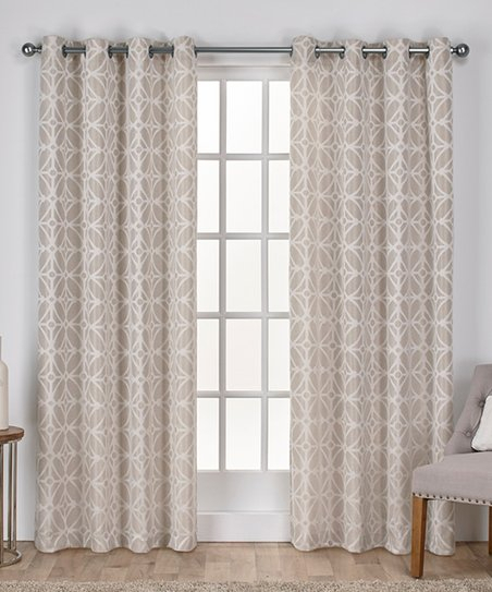 Exclusive Home Linen Cressy Geometric Room Darkening Curtain With Regard To Geometric Linen Room Darkening Window Curtains (View 19 of 50)