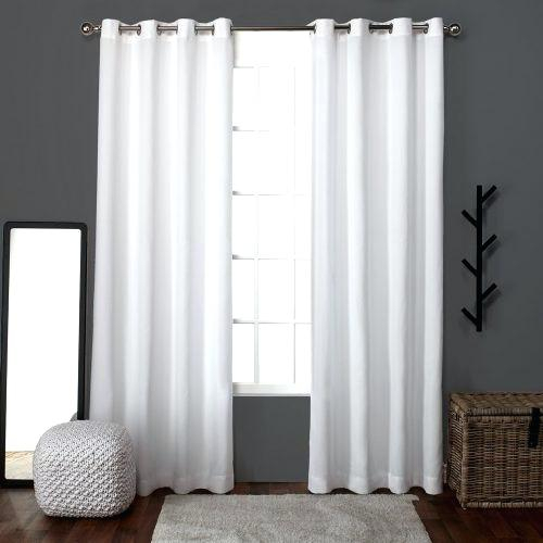 Exclusive Home Linen Window Curtain Panel Pair With Grommet With Regard To Baroque Linen Grommet Top Curtain Panel Pairs (View 26 of 48)